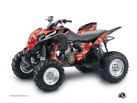 Honda 700 TRX ATV Predator Graphic Kit Red