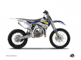 Kit Déco Moto Cross Predator Husqvarna TC 85 Violet Jaune