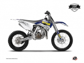 Kit Déco Moto Cross PREDATOR Husqvarna TC 85 Violet Jaune LIGHT