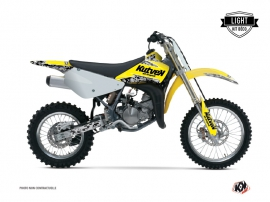 Kit Déco Moto Cross Predator Suzuki 85 RM Jaune LIGHT