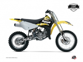 Kit Déco Moto Cross Predator Suzuki 85 RM Noir Jaune LIGHT