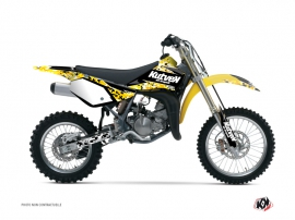 Suzuki 85 RM Dirt Bike Predator Graphic Kit Black Yellow