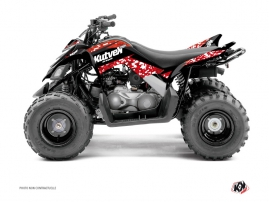 Yamaha 90 Raptor ATV Predator Graphic Kit Red