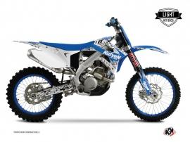 Kit Déco Moto Cross Predator TM EN 125 Bleu LIGHT