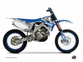 Kit Déco Moto Cross Predator TM MX 450 FI Bleu