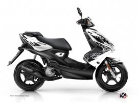 Yamaha Aerox Scooter Predator Graphic Kit White