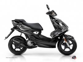 Yamaha Aerox Scooter Predator Graphic Kit Black