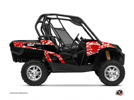 Can Am Commander UTV Predator Graphic Kit Red