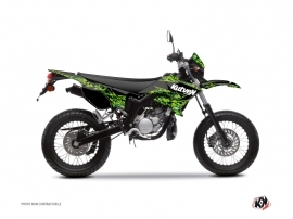 Yamaha DT 50 50cc Predator Graphic Kit Black Green
