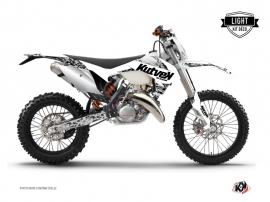 Kit Déco Moto Cross Predator KTM EXC-EXCF Blanc LIGHT