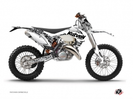 KTM EXC-EXCF Dirt Bike PREDATOR Graphic kit White