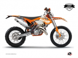 Kit Déco Moto Cross Predator KTM EXC-EXCF Orange LIGHT