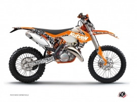 Kit Déco Moto Cross Predator KTM EXC-EXCF Orange