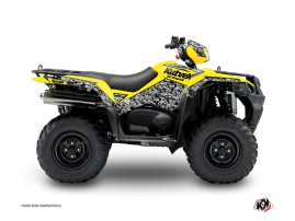 Suzuki King Quad 500 ATV Predator Graphic Kit Yellow