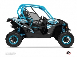 Can Am Maverick UTV Predator Graphic Kit Blue White