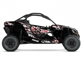 Kit Déco SSV Predator Can Am Maverick X3 Gris Rouge