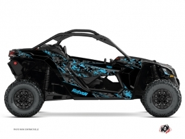 Can Am Maverick X3 UTV Predator Graphic Kit Black Blue