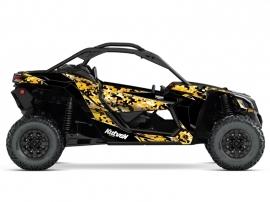 Kit Déco SSV Predator Can Am Maverick X3 Noir Jaune
