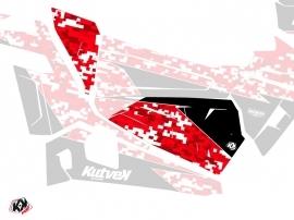 Graphic Kit Doors Origin Low Predator UTV Polaris RZR 900S/1000/Turbo 2015-2017 Red