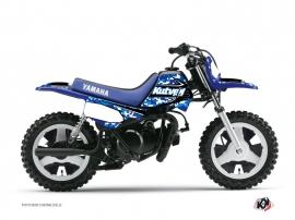 Kit Déco Moto Cross Predator Yamaha PW 50 Bleu