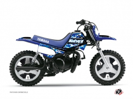 Kit Déco Moto Cross PREDATOR Yamaha PW 80 Bleu