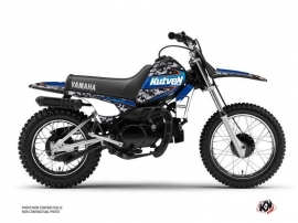 Yamaha PW 80 Dirt Bike Predator Graphic Kit Black Blue