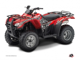 Honda Rancher 420 ATV Predator Graphic Kit Black Red