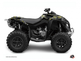 Can Am Renegade ATV Predator Graphic Kit Black Grey Yellow