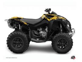 Can Am Renegade ATV Predator Graphic Kit Black Yellow