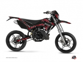 Beta RR 50 Motard 50cc Predator Graphic Kit Black Red