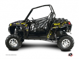 Polaris RZR 570 UTV Predator Graphic Kit Black Grey Yellow