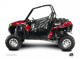 Polaris RZR 570 UTV Predator Graphic Kit Red