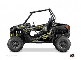 Polaris RZR 900 UTV Predator Graphic Kit Black Grey Yellow