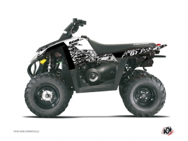 Polaris Scrambler 500 ATV Predator Graphic Kit White