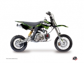 YCF SP Dirt Bike Predator Graphic Kit Black Green
