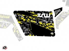 Kit Déco Portes Standard XRW Predator SSV Polaris RZR 570/800/900 2008-2014 Noir Gris Jaune