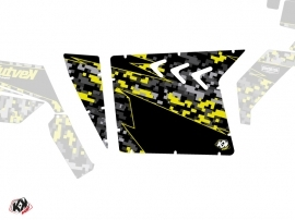 Graphic Kit Doors Suicide XRW Predator UTV Polaris RZR 570/800/900 2008-2014 Black Grey Yellow
