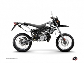 Derbi Xtreme / Xrace 50cc Predator Graphic Kit White