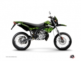 Derbi Xtreme / Xrace 50cc Predator Graphic Kit Black Green