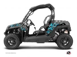 Kit Déco SSV Predator CF Moto Z Force 800 Noir Turquoise