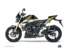 Suzuki GSR 750 Street Bike Profil Graphic Kit Black Yellow