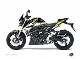 Kit Déco Moto Profil Suzuki GSR 750 Noir Jaune