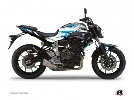 Kit Déco Moto Profil Yamaha MT 07 Bleu
