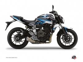 Kit Déco Moto Profil Yamaha MT 07 Bleu Noir