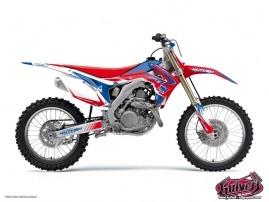 Kit Déco Moto Cross Pulsar Honda 125 CR Bleu