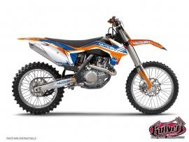 Kit Déco Moto Cross Pulsar KTM EXC-EXCF Bleu
