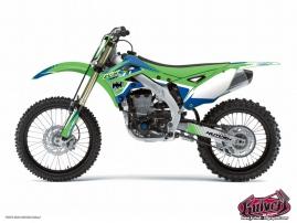 Kit Déco Moto Cross Pulsar Kawasaki 450 KXF Bleu