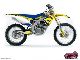 Suzuki 450 RMZ Dirt Bike Pulsar Graphic Kit Blue