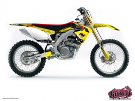 Suzuki 450 RMZ Dirt Bike Pulsar Graphic Kit Black
