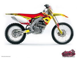 Suzuki 450 RMZ Dirt Bike Pulsar Graphic Kit Red